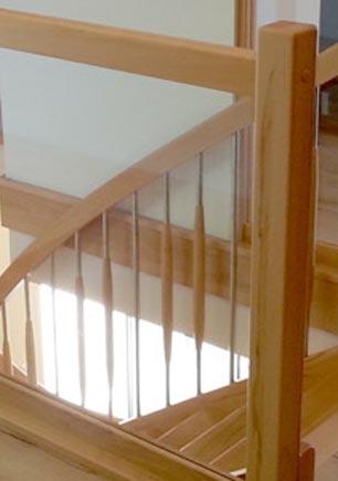 Geländer Holz-Glas